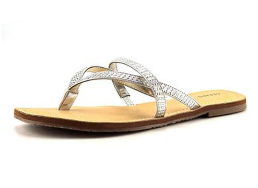 Alfani Pirsey Women Silver Thong Sandal - 10M