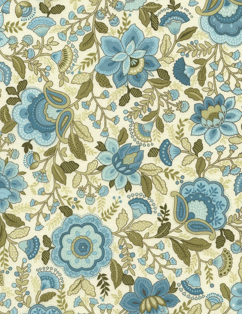 Emma Jacobean Floral - Our Fabrics | TIMELESS TREASURES
