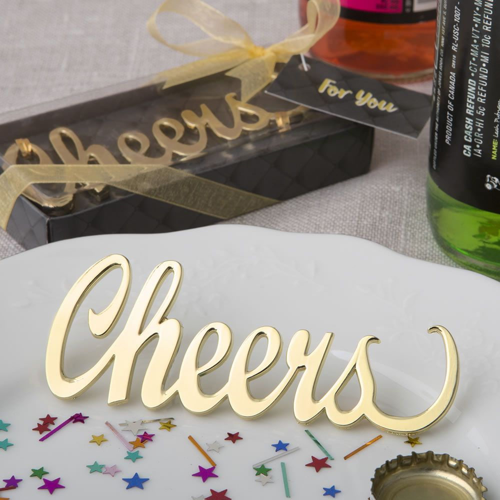 Cheers\' gold metal bottle opener from fashioncraft | Grammies 90th ...