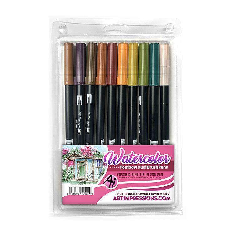 Art Impressions Watercolor Collection Dual Brush Pen Set