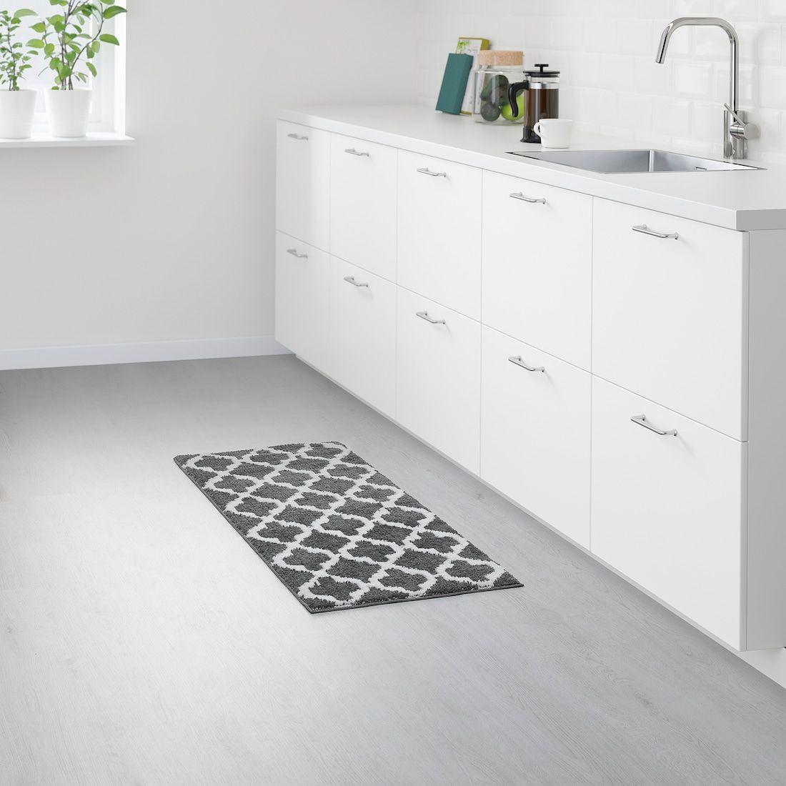 Auning Kitchen Mat Dark Grey Ikea