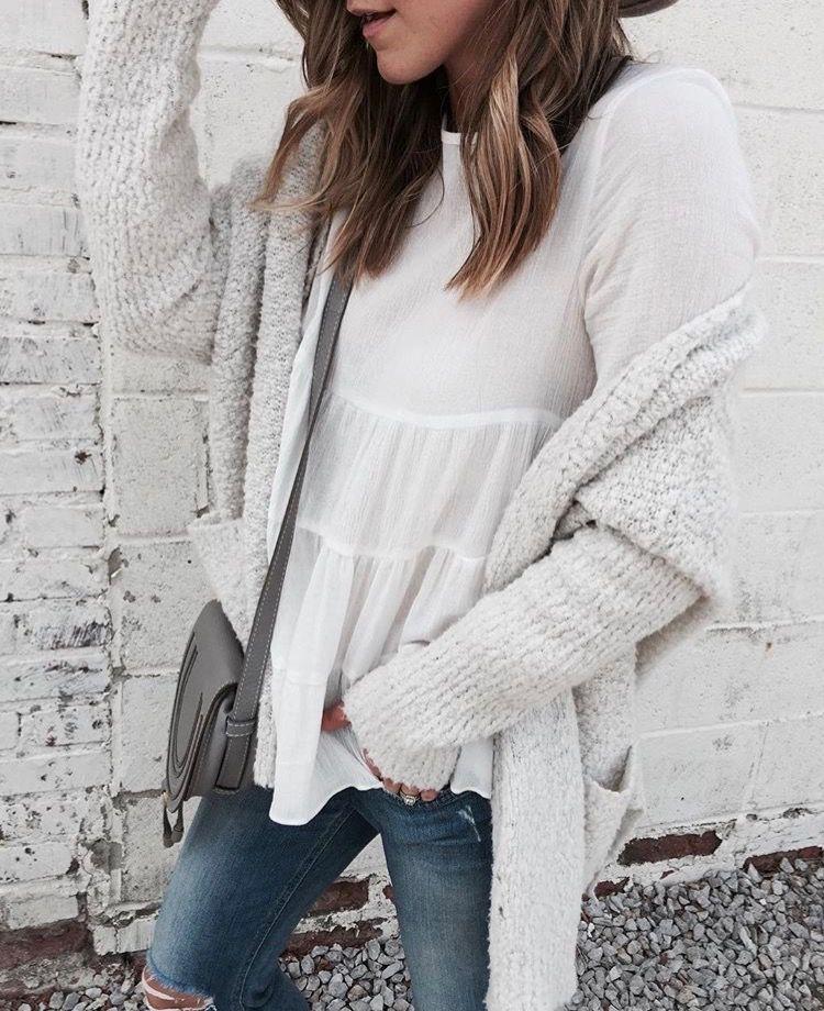 #gray #sweater #sincerelyjulestop #denim