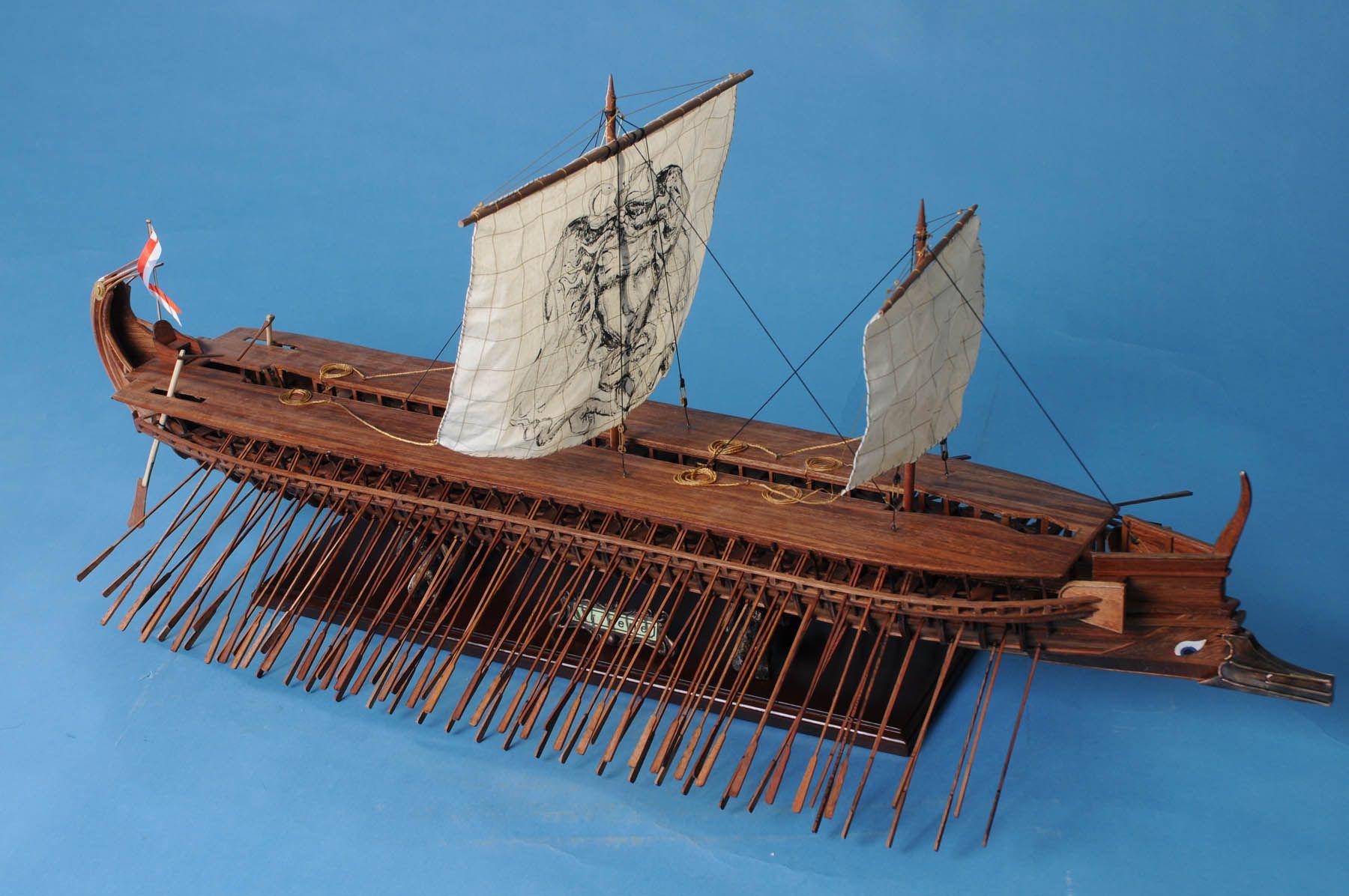 Model Of An Ancient Greek Trireme