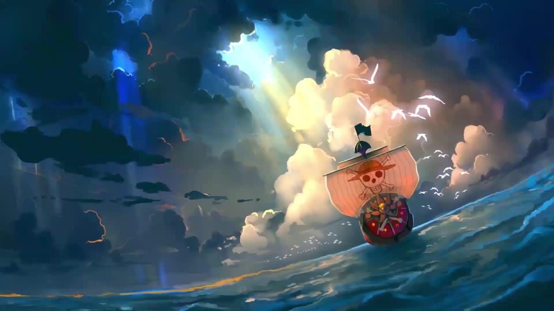 One Piece Ship Live Wallpaper Gambar Anime Gambar Animasi