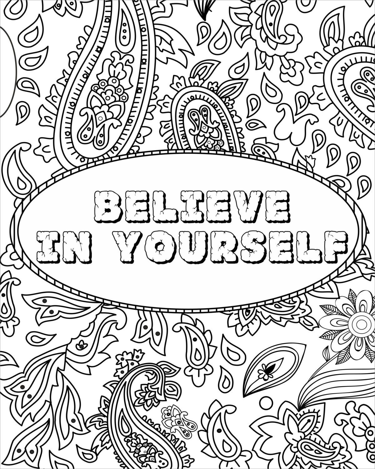 Inspirational Fun Quotes Colouring Pages by