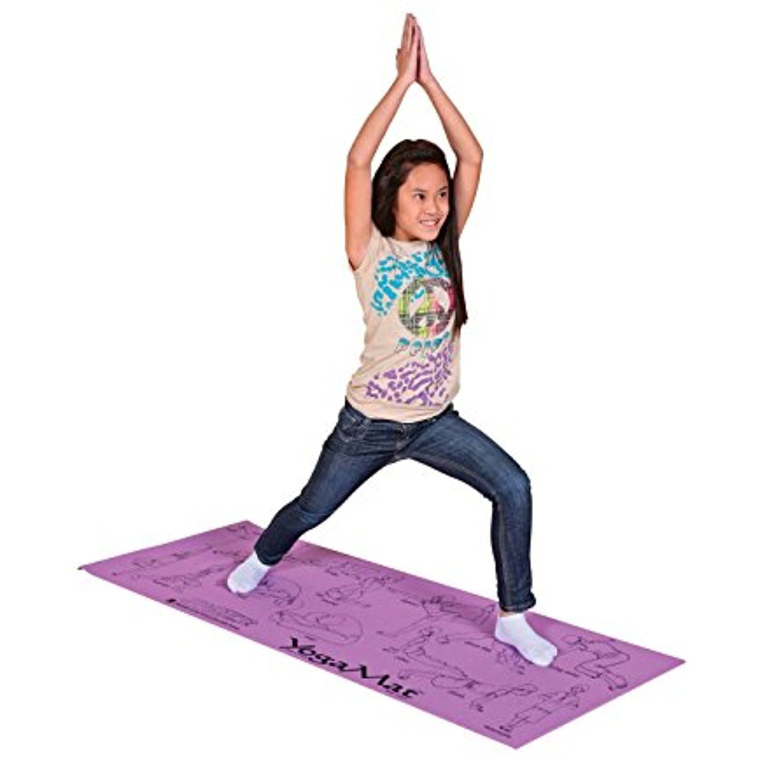 Sportime Illustrated Youth Yoga Mat With Pose Images 24 X 68 X 1 8 Inches You Can Find More Details By Visiting Th Learn Yoga Poses Yoga Images Yoga Poses