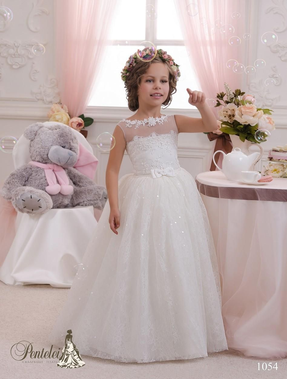 2016 Lace Girls Dresses Special Occasion With Sheer Neck And Sleeveless Pentelei Inspired Cute Communion Dresses For Girls Flower Girl Dresses Pictures Flower Girl Dresses Singapore From Uniquebridalboutique, $96.54| Dhgate.Com