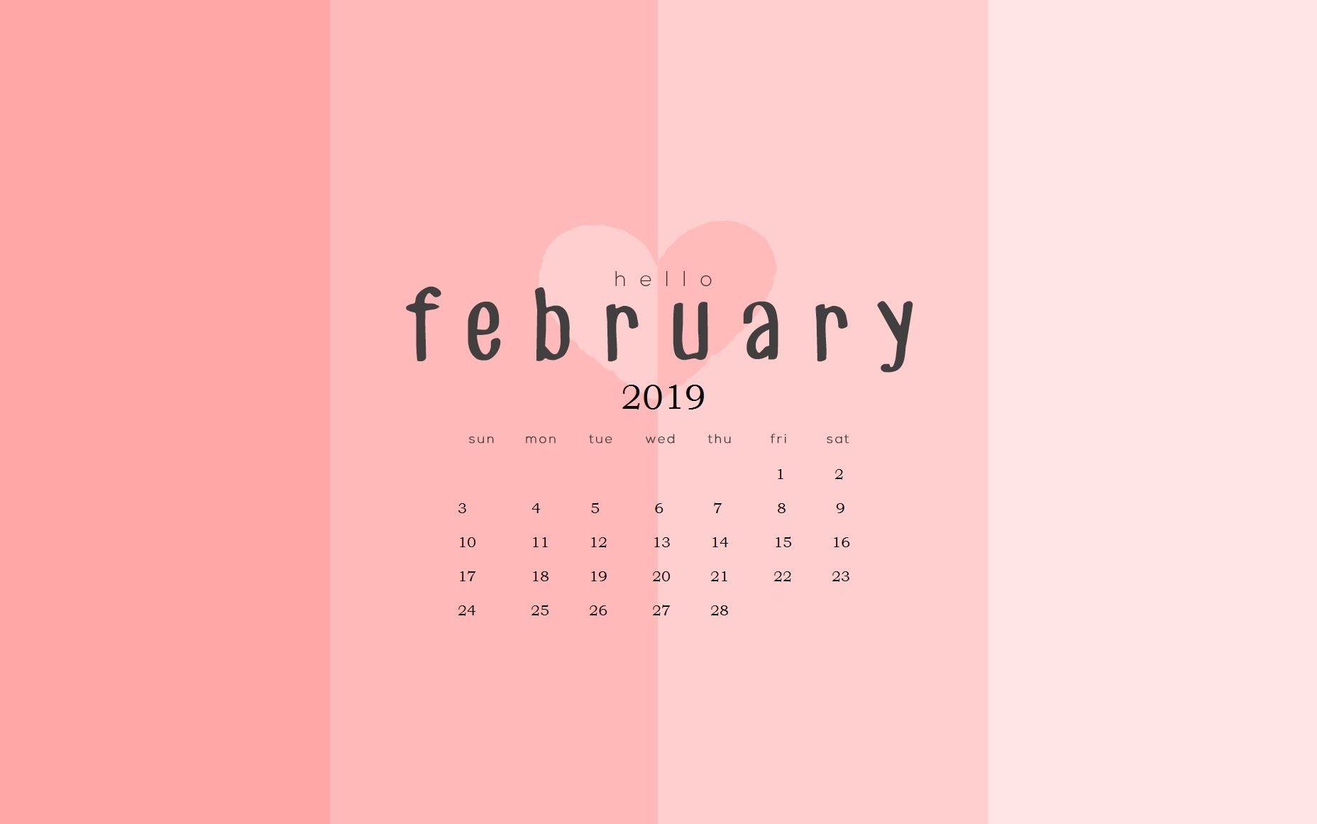 2019 February Desktop Calendar Wallpapers february 2019 calendar wallpapers calendar 2019::February 2019
