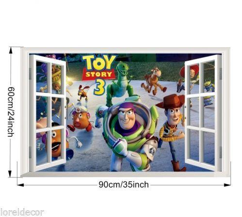 Pegatinas infantiles ventanas toy story 3 for Pegatinas decorativas infantiles