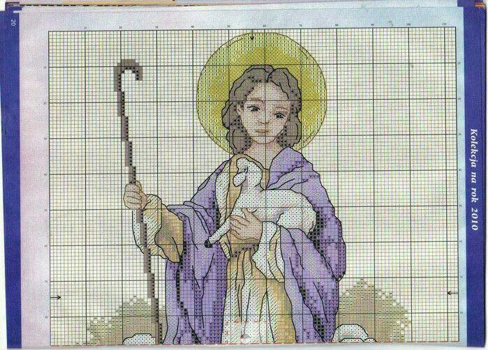 Cordero de Dios | punto de cruz | Pinterest | Cordero de dios ...