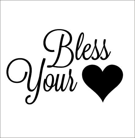 Bless your heart car decal vinyl decal car decal car window decal heart decal southern saying car decal bless your heart small decal cute