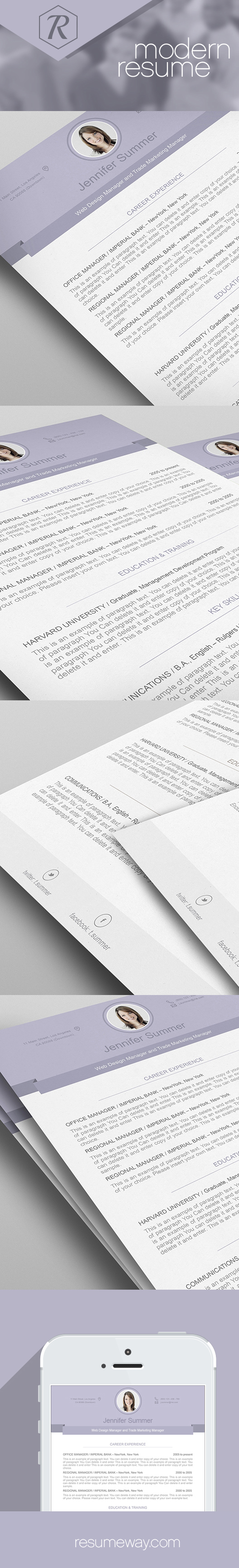 resume template 110490 modern resume templates pinterest
