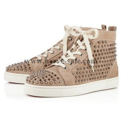 Christian Louboutin Louis Spikes Mens Wohnung Nude