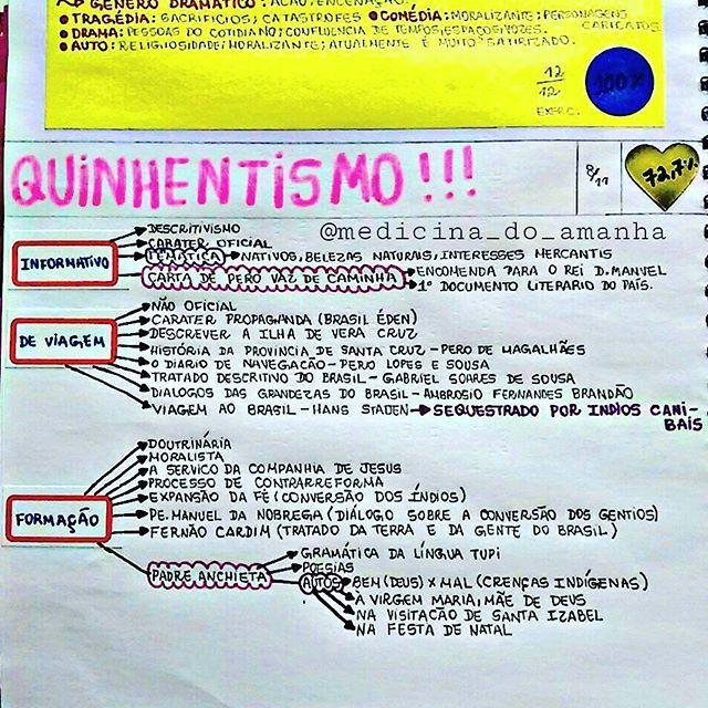 RESUMO #LITERATURA #QUINHENTISMO ❤❤❤ Também já está disponível ...