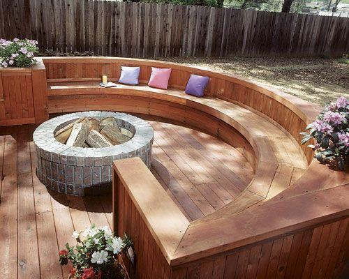 Great Deck Designs Fire Pit Backyard Backyard Fire Deck Fire Pit