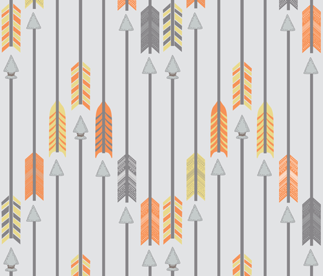 Quiver Full of Arrows in Yellow and Orange fabric by bella_modiste on Spoonflower - custom fabric