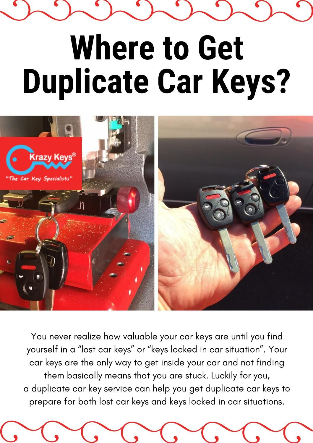 Helpful Information About Duplicate Car Key Service