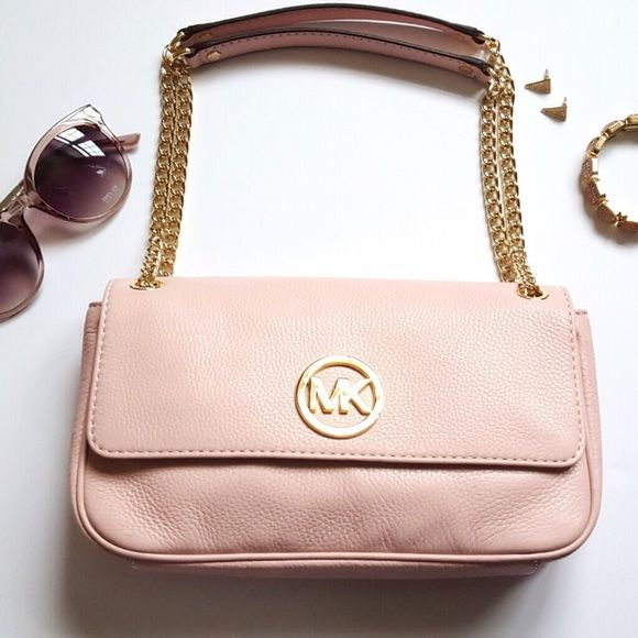 FINAL} Michael Kors Blush Pink Leather Bag Authentic Michael Kors ...
