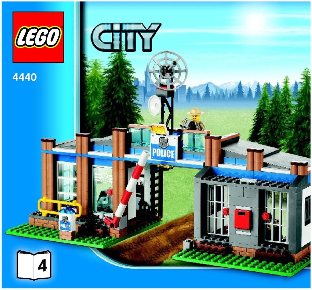Lego Forest Police Station Instructions 4440 City Lego City Lego City Sets Lego City Police