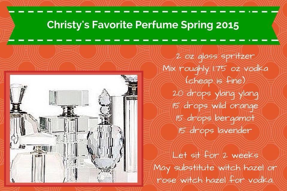 Essential Oil Recipe for perfume, my FAV.