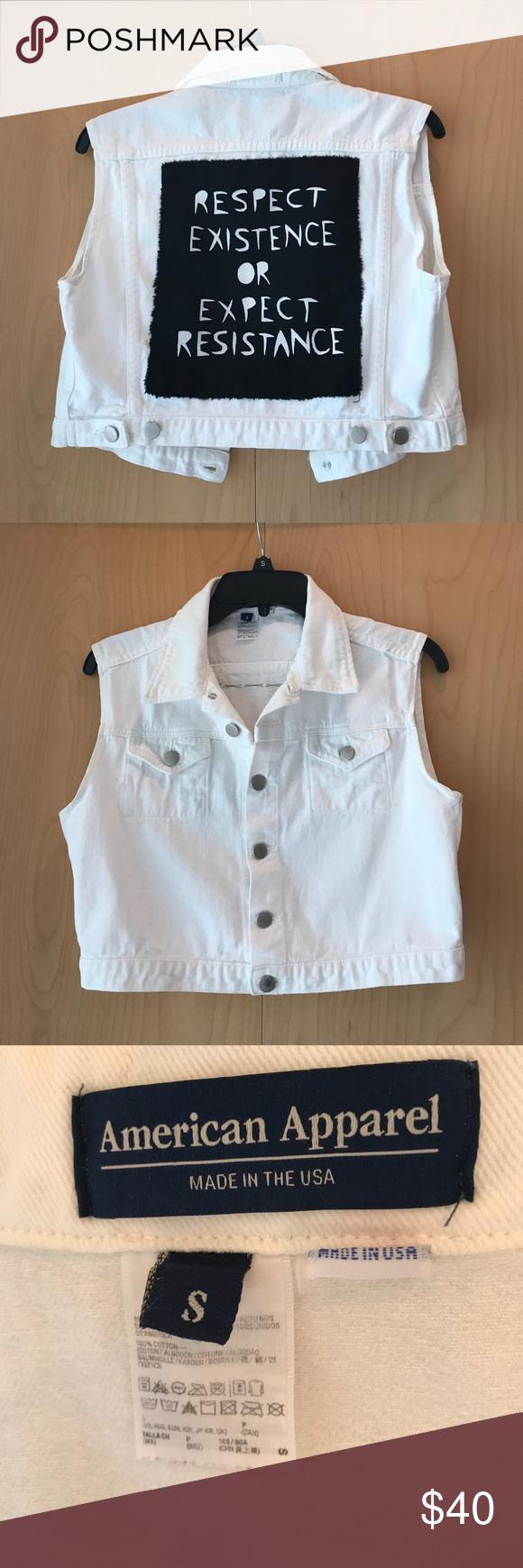 c45cf0659dc White denim vest with back patch