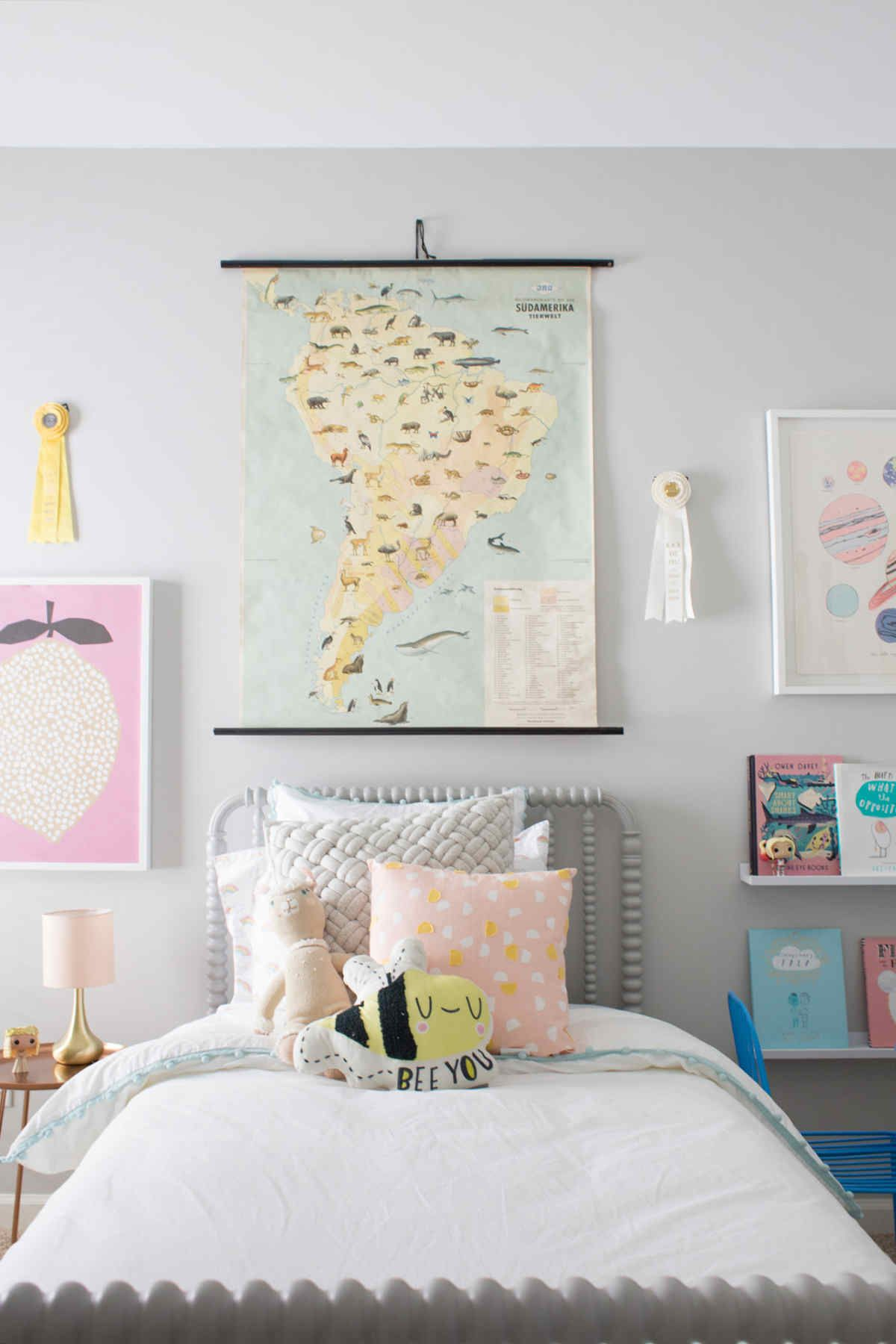 Modern Girls Bedrooms A Travel Inspired Big Girl Room In 2019 Favorite Places Spaces