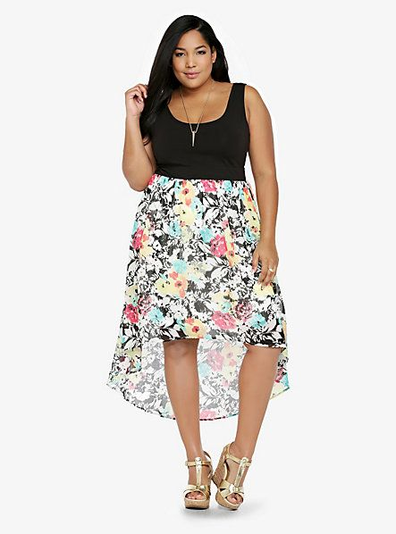 A Flirty Plus Size Summer Dress 2014 With Dreamy High Low Floral