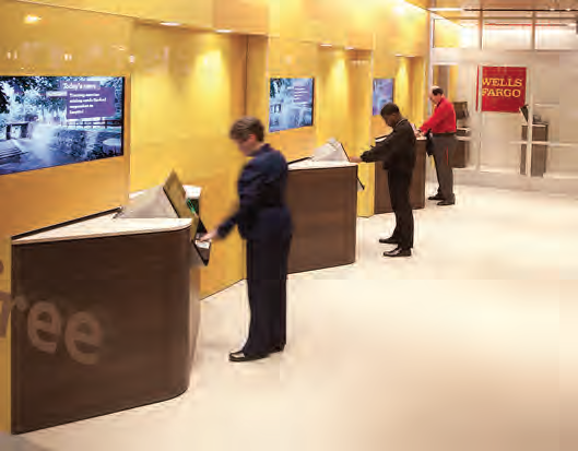 With self service atms wells fargo thinks big to build for Self bank oficinas