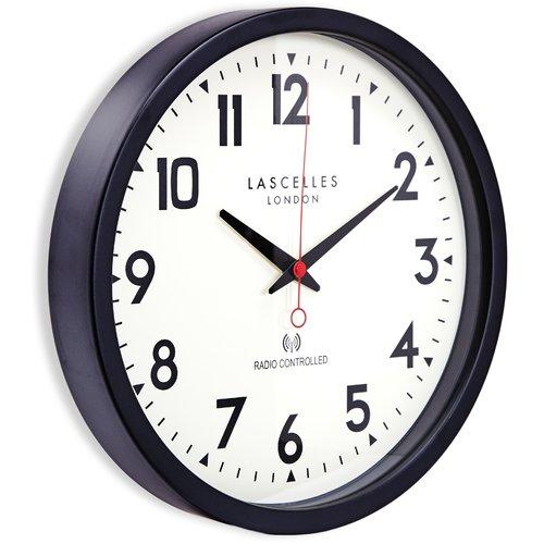 Roger Lascelles Clocks Radio Controlled 36cm Wall Clock Wall Clock Clock Retro Wall Clock