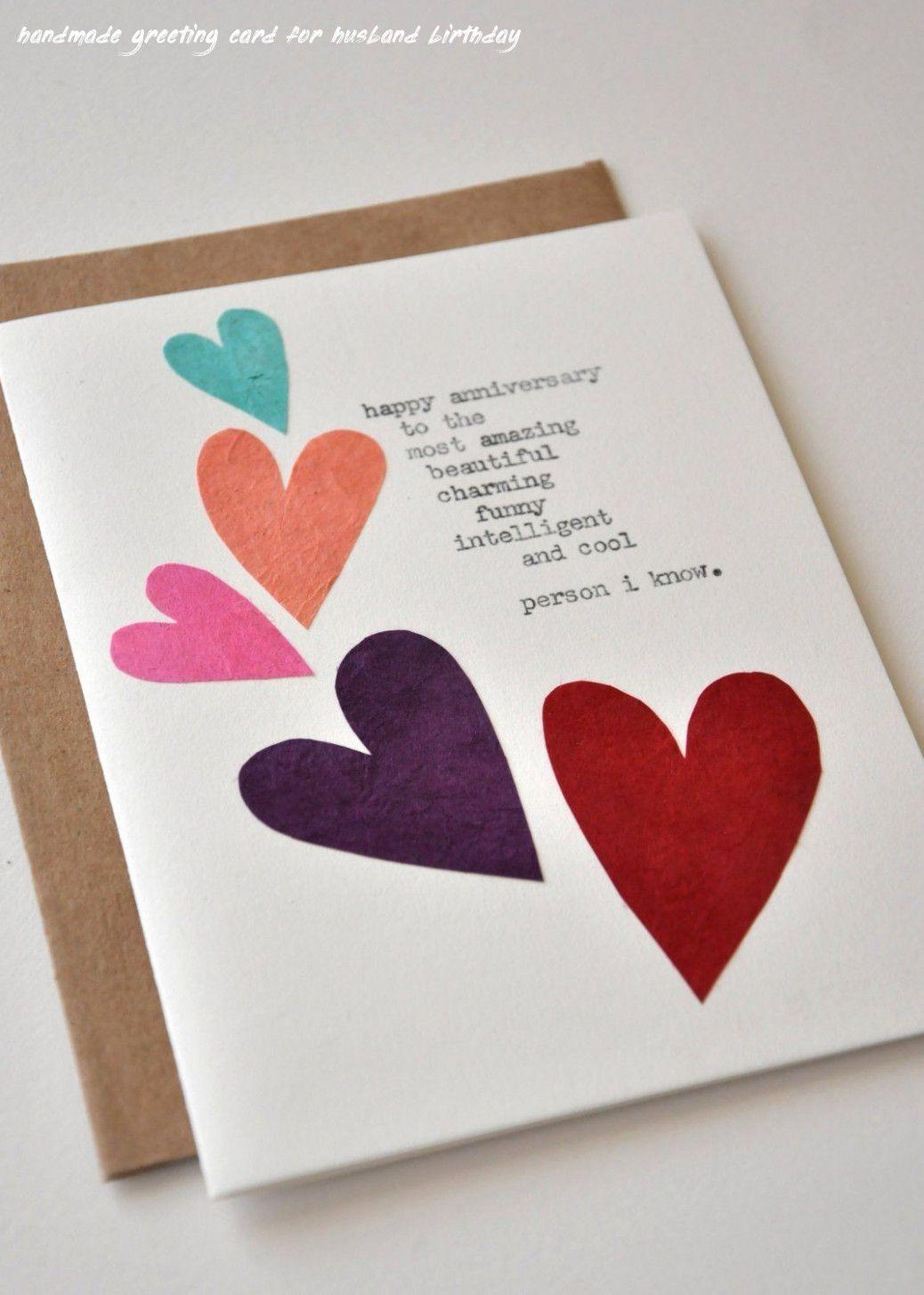 6 Handmade Greeting Card For Husband Birthday Husband Birthday Card Creative Birthday Cards Card Making Birthday