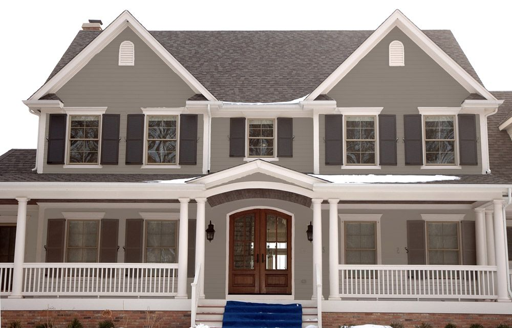 Like The Grey, With Dark Grey Shutters, White Boarders And Dark Roof.  Classic · Siding ColorsRoof ColorsExterior House ...