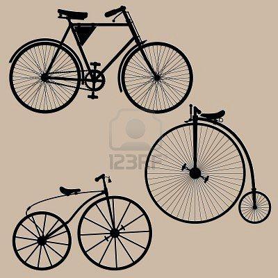 Vintage Bicycles Silhouettes Of Three Vintage Bikes Illustration Bike Illustration Bike Drawing Vintage Bicycles