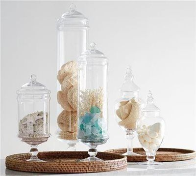 PB Classic Glass Apothecary Jars | Bathroom Accessories | Bathroom Decor |  Pottery Barn