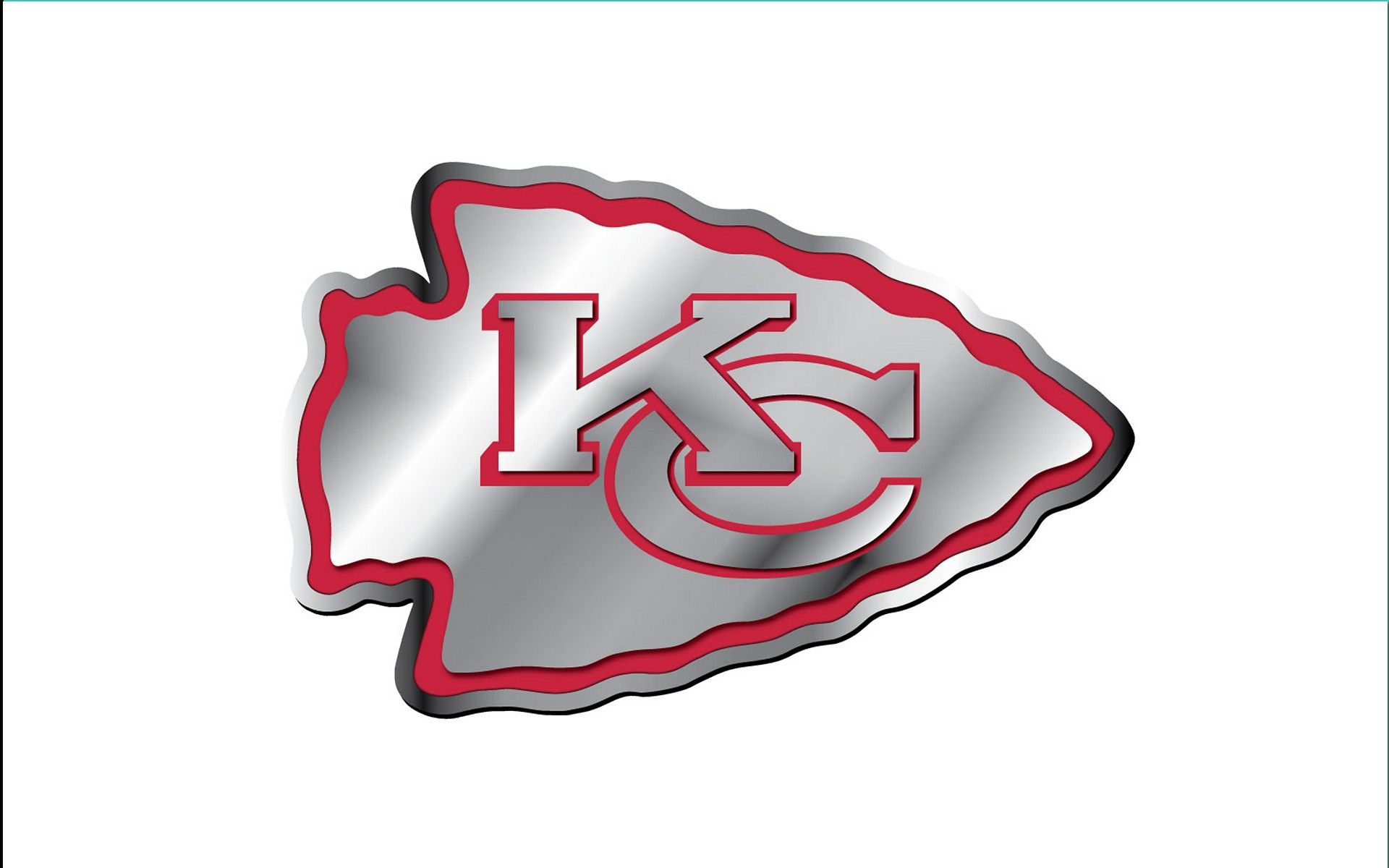 Kansas City Chiefs Kansas City Chiefs Logo Aluminium White Backround 1920x1200 Wide Nfl Kansas City Chiefs Logo Chiefs Logo Kansas City Chiefs