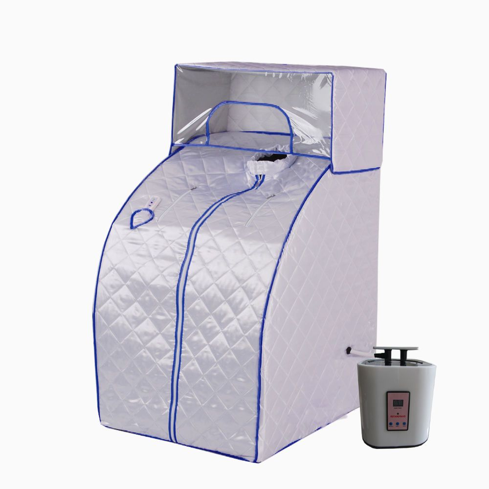 New Portable Therapeutic Steam Sauna Head Cover Full Body Detox Weight  Loss MB
