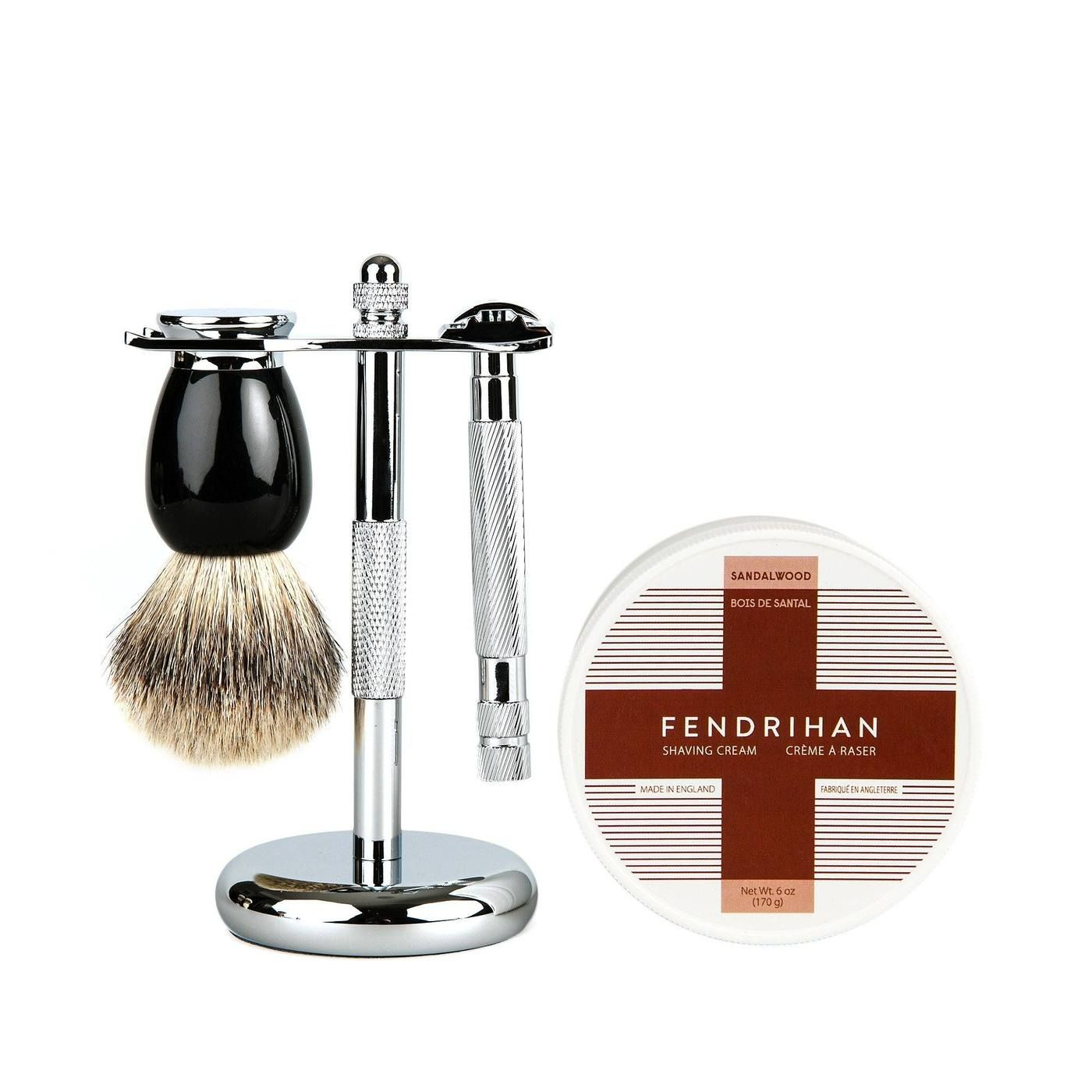 Fendrihan 4Piece Wet Shaving Set with Safety Razor and