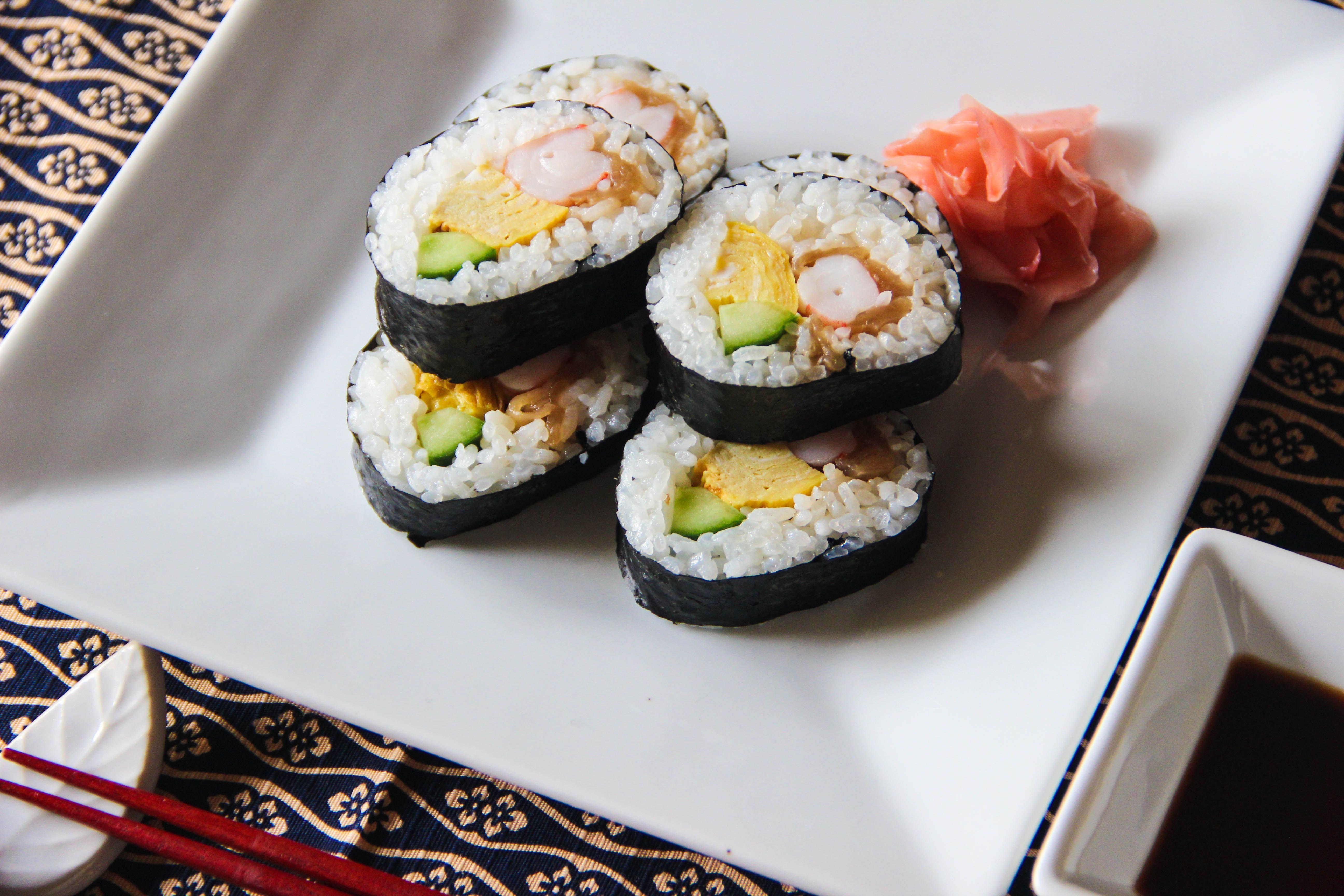 Futomaki sushi recipe sushi recipes food recipes cooking