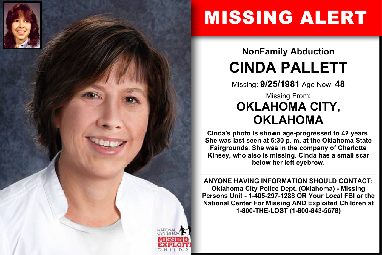 CINDA PALLETT, Age Now: 48, Missing: 09/25/1981  Missing