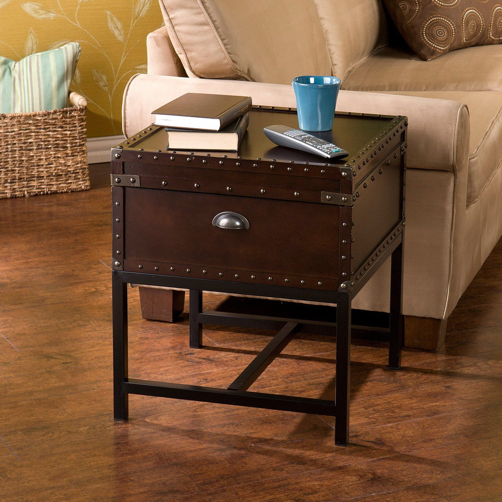 Southern Enterprises Voyager Espresso Trunk End Table Tables At Hayneedle