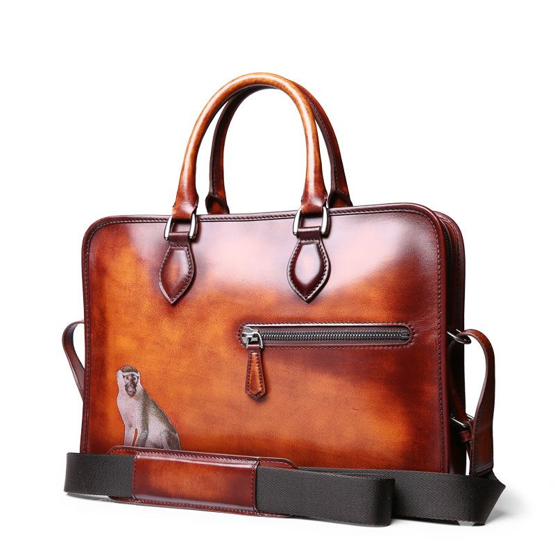 TERSE luxury antique style handmade custom genuine leather bag T88LN0325-2 58f2dbaf5afc6