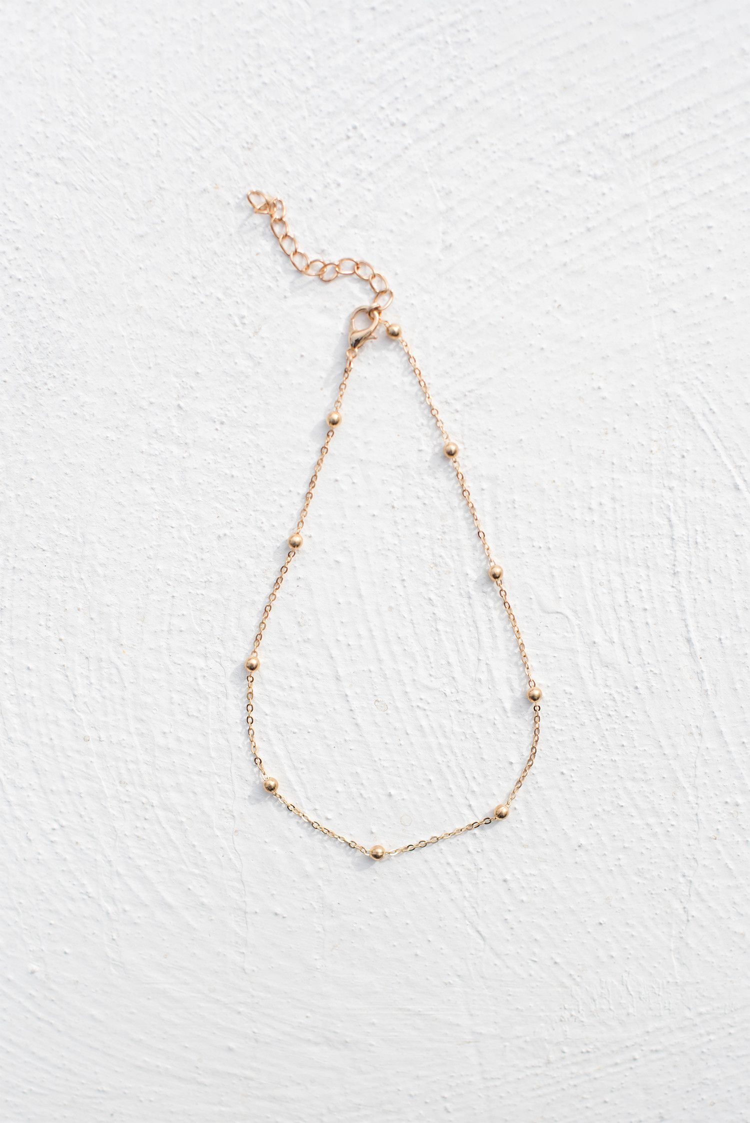 Fine Ball & Chain Choker - Gold – Style Addict