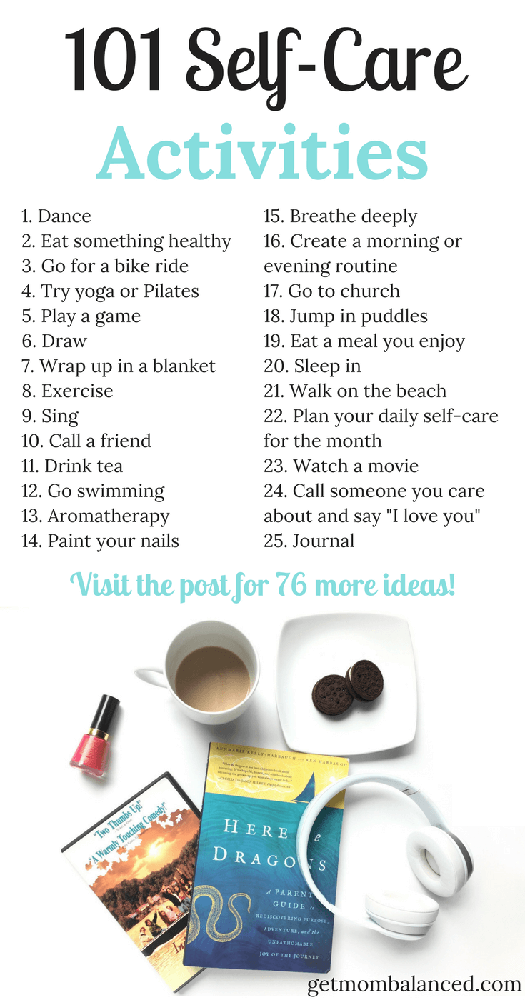 101 Self-Care Activities | Self care activities, Self care ...