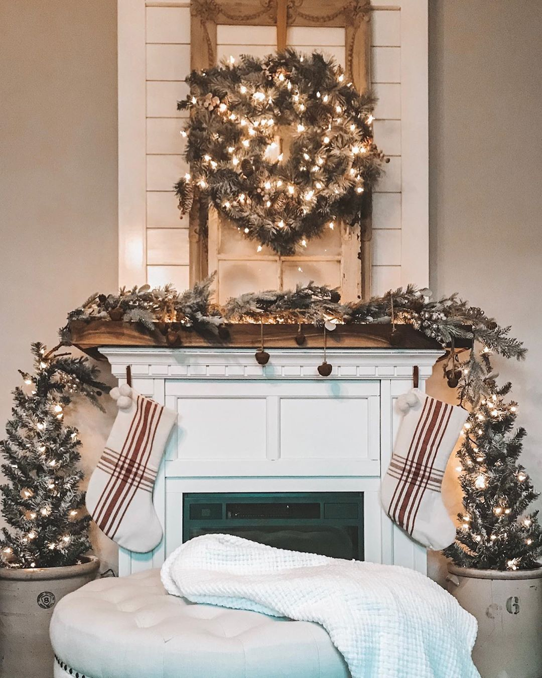 Christmas Eve Hobby Lobby 2020 Tried another look for the mantle! Found this half off wreath at