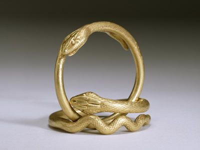 Pair if Gold Snake Bracelets 1st Century AD Walters ARt Museum