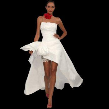 Fun funky short wedding dress short at front long at back Rochelle ...