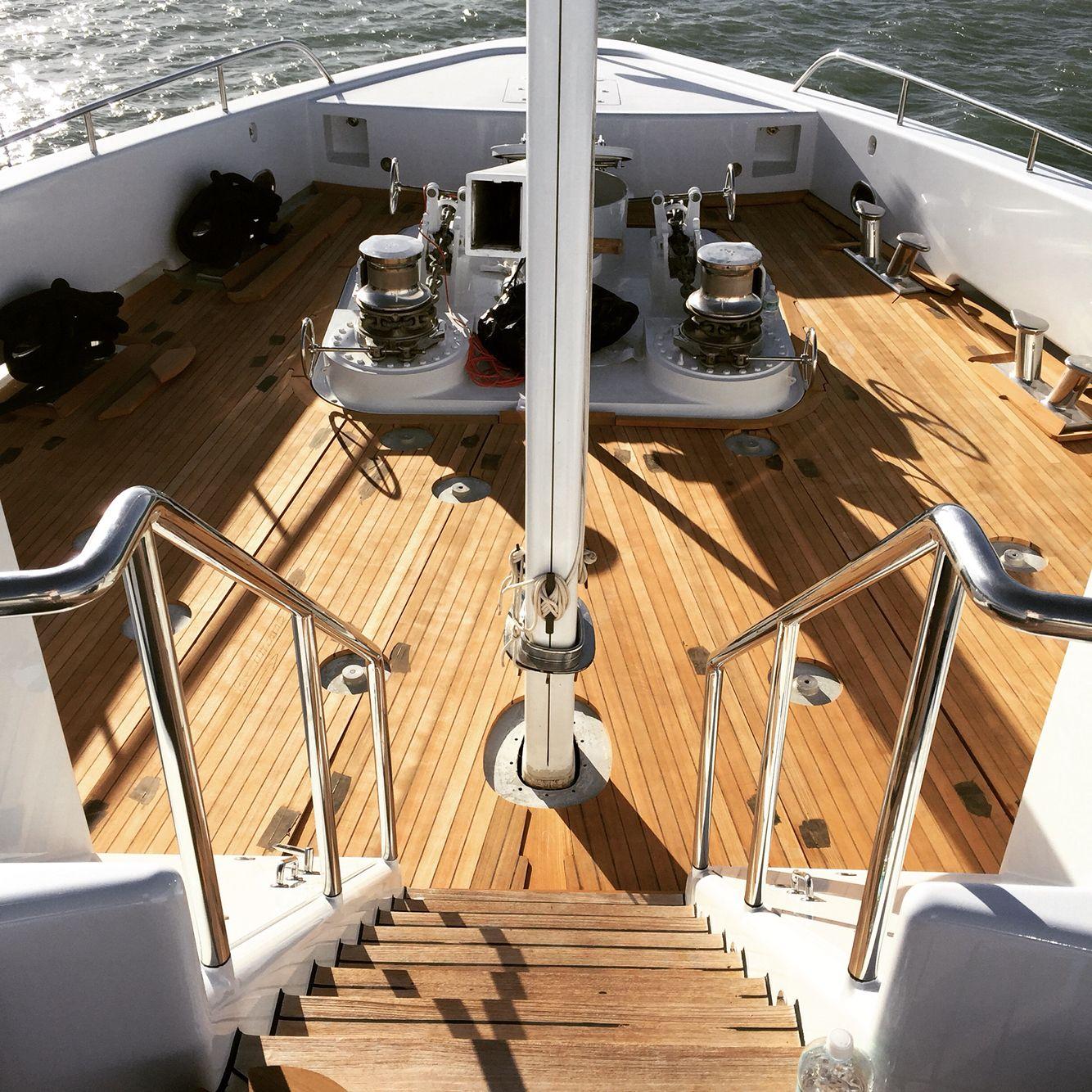 Best New Teak Decking On Superyacht By Idealteak Marine 400 x 300