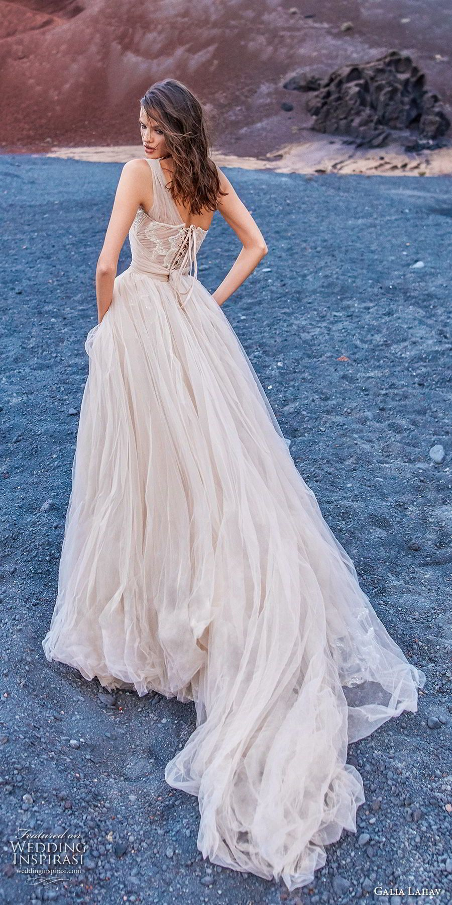 Galia Lahav Gala 2018 Braut eine Schulter halb Schatz Ausschnitt ...