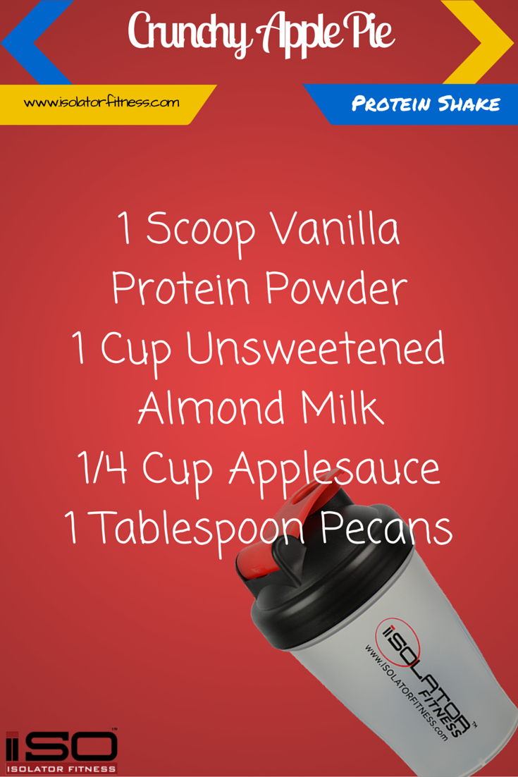 Crunchy Apple Pie Protein Shake. Great for post workout or breakfast!