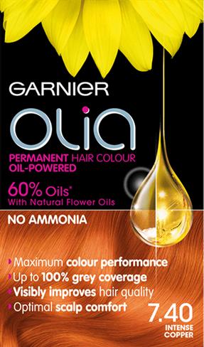 Olia 7 40 Intense Copper Olia Hair Color Garnier Olia Permanent Hair Color