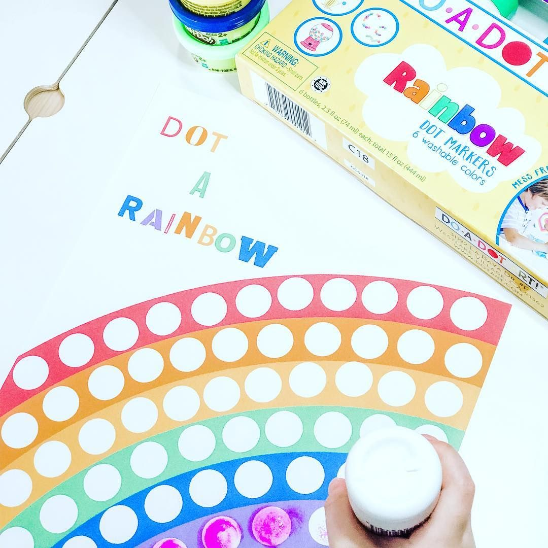 Dot A Rainbow This Is A Multipurpose Worksheet I Ve